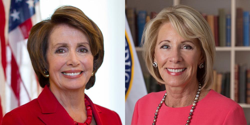 Speaker Pelosi and Secretary DeVos Announced as Speakers for 2019 Presidents Conference